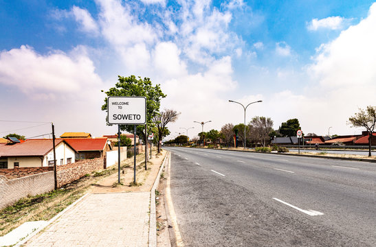 Soweto Townships town sign in Johannesburg, South Africa