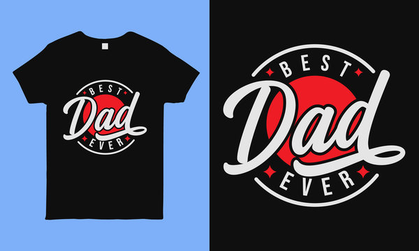 Best dad ever. Fathers day greeting. Modern typography circular design template for sticker, poster, banner, gift card, t shirt, print, label, badge. Retro vintage style.