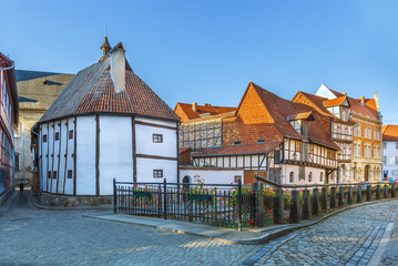Fotomurales - Street in Quedlinburg, Germany