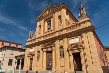 Fototapete - Historic church of Castelfranco Emilia, Italy