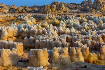 Detail of crystals in Dallol, Danakil desert