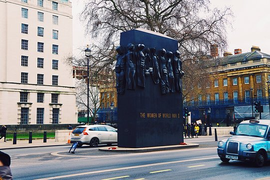 Monument To The Women Of World War Ii On Street By Whitehall