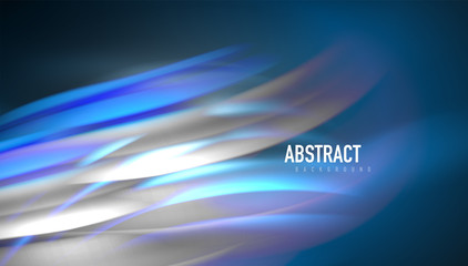 Fototapete - Creative fluid wave lines abstract background. Trendy abstract layout template for business or technology presentation, internet poster or web brochure cover, wallpaper