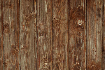 Brown, painted, wooden wall. Background. Texture.