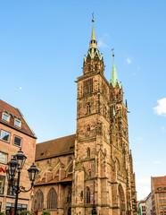 Fototapete - Lorenzkirche in Nürnberg