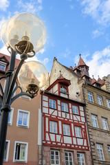 Wall Mural - Historische Hausfassade in Nürnberg - Altstadt