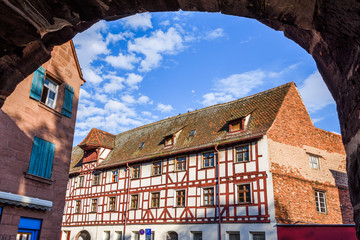 Wall Mural - Historisches Fachwerkhaus in Nürnberg - Altstadt