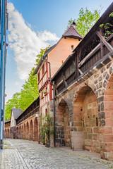 Wall Mural - Stadtmauer Nürnberg, Spittlertormauer mit Mauerturm und Wehrgang, Nürnberg, Bayern