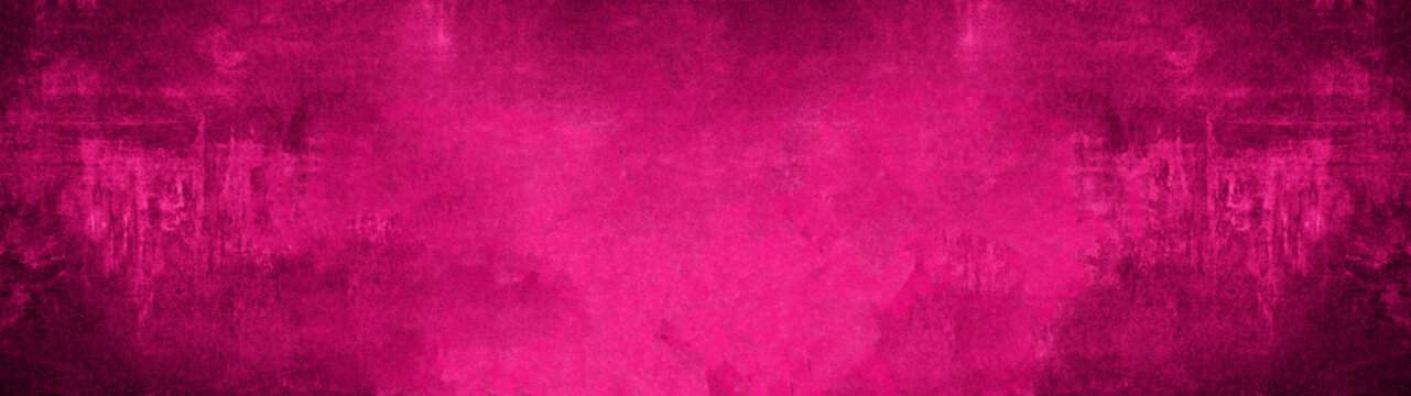 Pink black magenta stone concrete paper texture background panorama banner long, with space for text