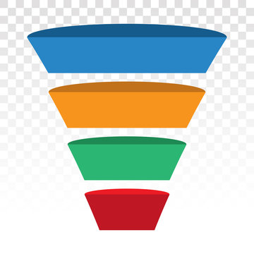 sales lead conversion half funnel icon for presentation apps and websites