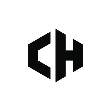 Letter CH logo design icon template