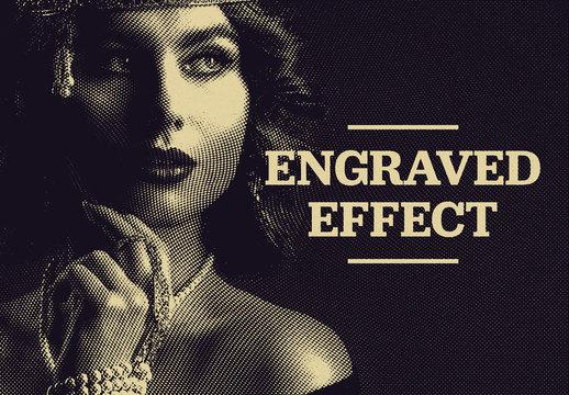 Engraved Image Effect Mockup