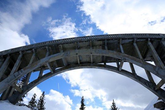 Historic concrete arch bridge in Northern California