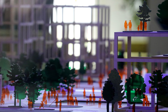 """Building models are seen at the offices of Alphabet's Sidewalk Labs """"smart city"""" in Toronto"""