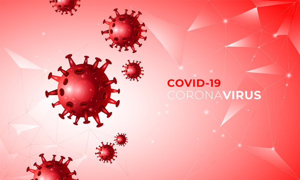 Covid 19 realistic concept with cell diseases or covid-19 bacteria on a white background with place for text. Colombia