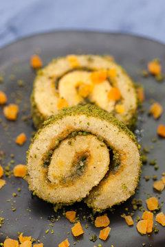 apricot pistachio roll cake