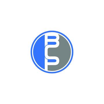 bcp letter original monogram logo design