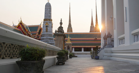 Sunlight over Grand palace at Thailand Fototapete