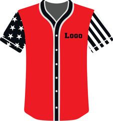 baseball jersey custom design illustration