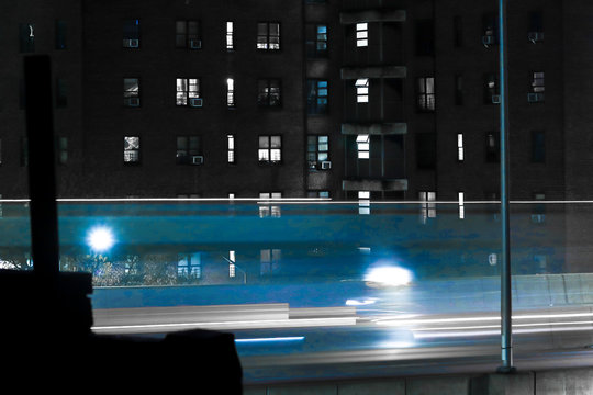 night traffic long exposure