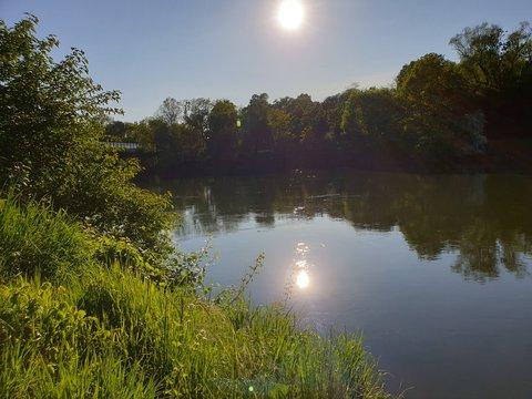 Fluss Donau in Ingolstadt