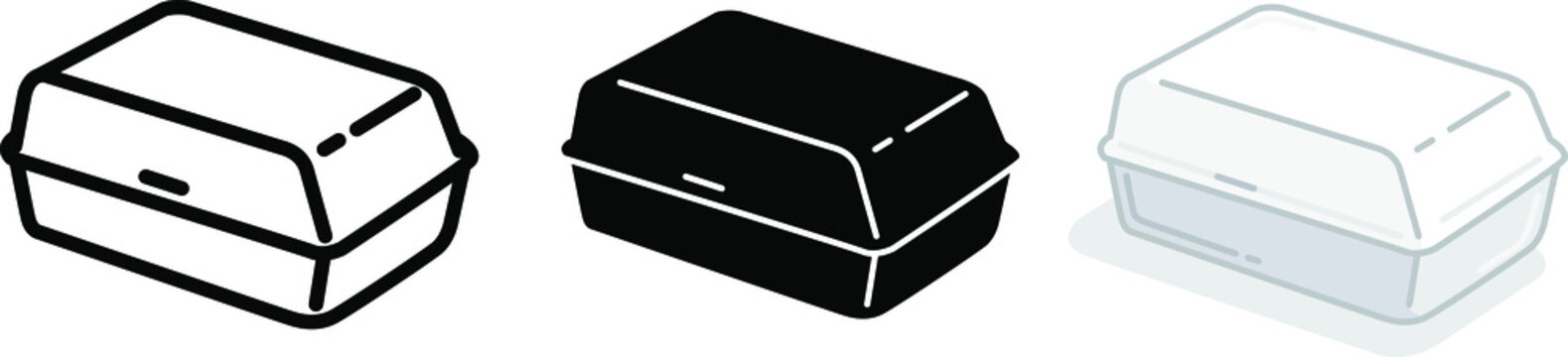 Foam meal box icon