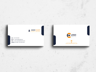 Simple and clean business card template vector design. Modern,creative, or corporate flat business card and visiting card.