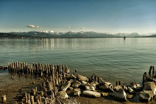 Scenic View Of Lake Constance And Mountains Against Sky