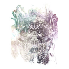 abstract background with evil skull