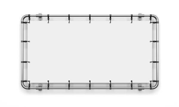 banner advertising vinyl billboard white tarpaulin layout template blank