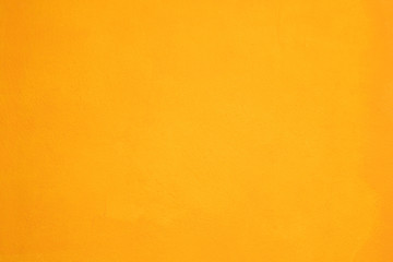 Abstract Painting texture on painted Yellow color concrete wall Background.