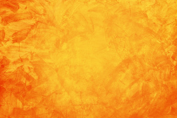 yellow and orange grunge texture cement or concrete wall banner, blank background
