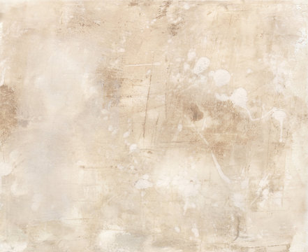 Abstract painting with textures and neutral colors