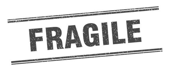 Obraz fragile stamp. fragile label. square grunge sign - fototapety do salonu