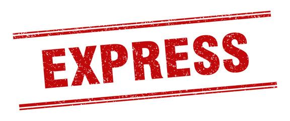 express stamp. express label. square grunge sign Fotobehang