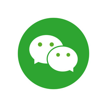 wechat flat style icon vector design
