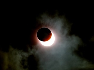 Fotomurales - Solar Eclipse In Cloudy Sky