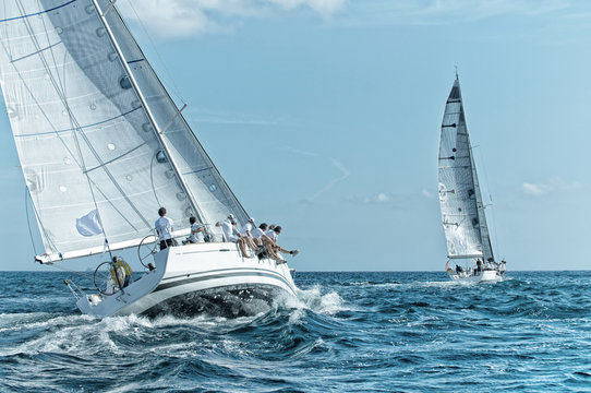 Sailing yacht regatta. Yachting. Sailing race