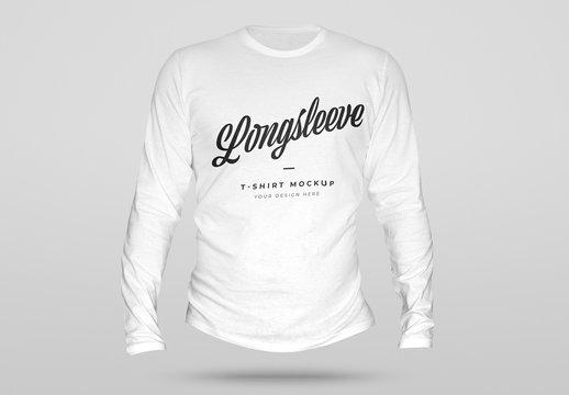 3D Longsleeve T-Shirt Mockup