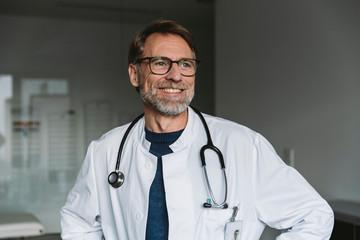 Portrait of smiling doctor