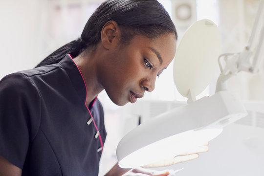 Portrait of dental assistant at work