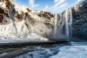 Iceland, Skogafoss?in winter