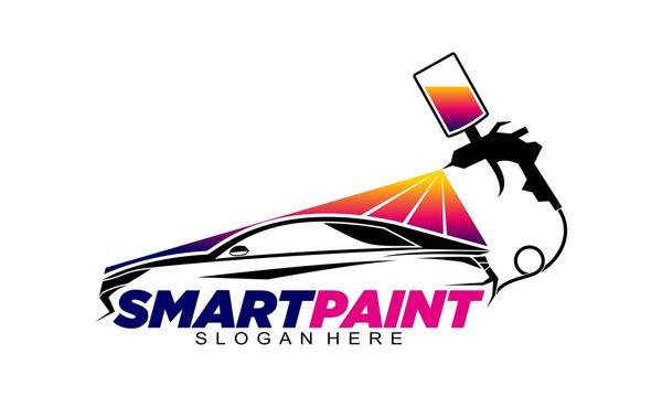 Smart paint for sport car garage illustration vector design