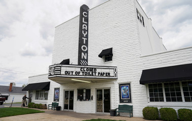 Theater marquee makes toilet paper coronavirus reference in Delaware