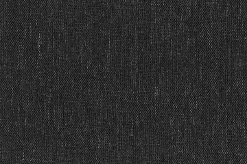 High resolution close-up texture of natural weave cloth in dark and black color. Fabric texture of natural cotton or linen textile material. Black fabric background.