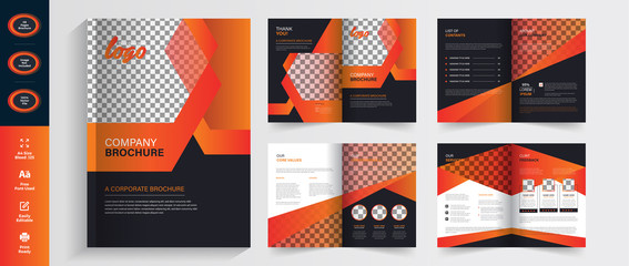 Business Brochure Magazine layout flyer template, with abstract premium vector magazine layout