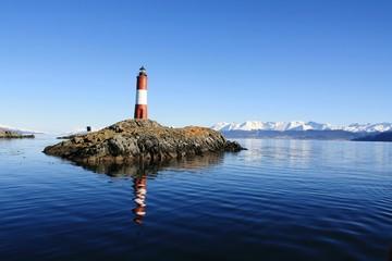 Garden Poster Lighthouse Lighthouse Amidst River Against Clear Blue Sky