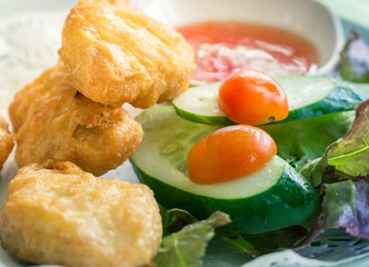 Chicken nuggets with  Vegetable