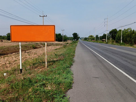 Traffic signs have an orange background for use in road construction.
