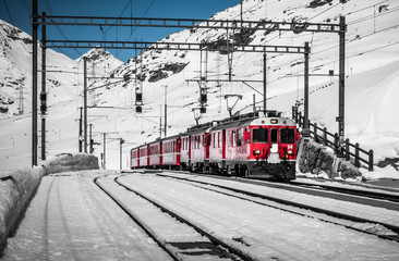 Bernina Express, railway between Italy and Switzerland.